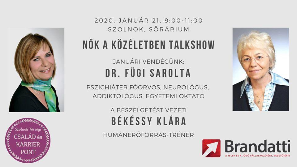 Nők a közéletben talkshow dr. Fügi Saroltával